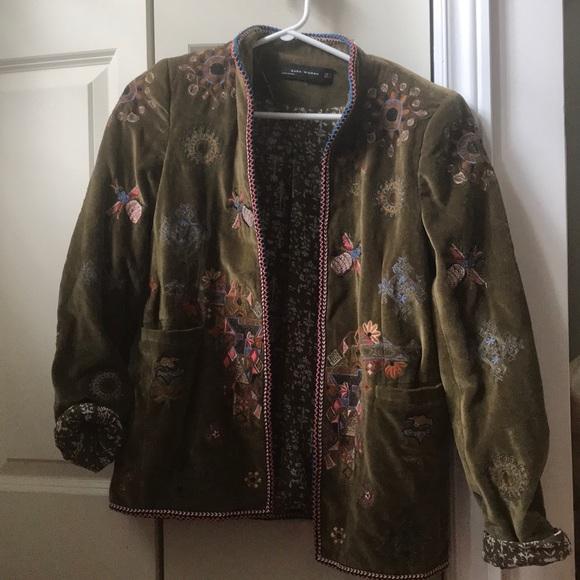 Embellished velour Zara Jacket